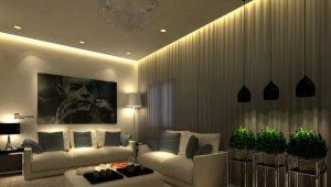 Подвесной потолок с подсветкой: особенности конструкции