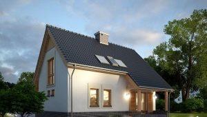 Проект дома размером 8 на 10 с мансардой
