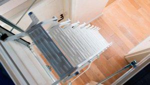 Утепленная чердачная лестница с люком