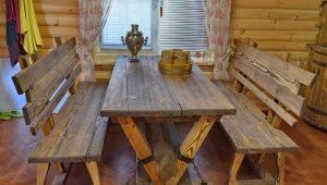Деревянная мебель для бани: выбор готовых вариантов и самостоятельное изготовление