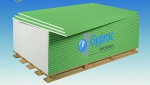 Гипсокартон Gyproc: характеристики  применение