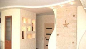 Восстановление повреждений в виде дырок в гипсокартоне на стене