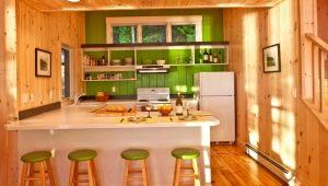 Вагонка в дизайне интерьера кухни