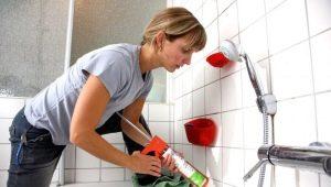 Санитарный силиконовый герметик: особенности и сфера применения
