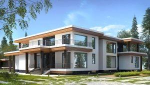 Проекты двухэтажных домов с плоской крышей