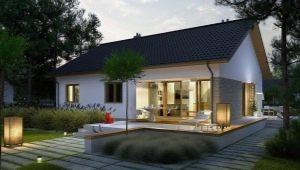 Проекты одноэтажных каркасных домов площадью до 100 кв. м
