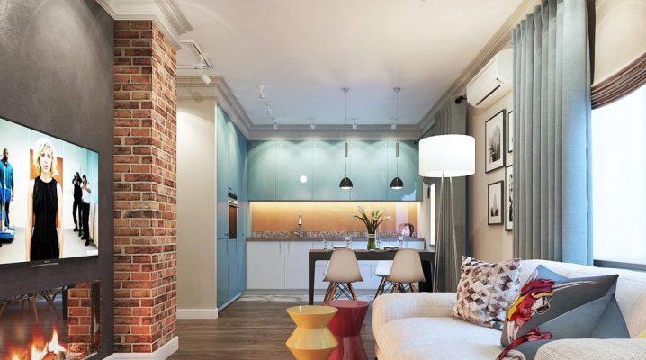 Дизайн кухни-гостиной площадью 30 кв. м