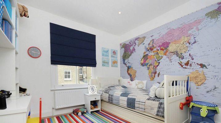 Фотообои «Карта мира» для детей