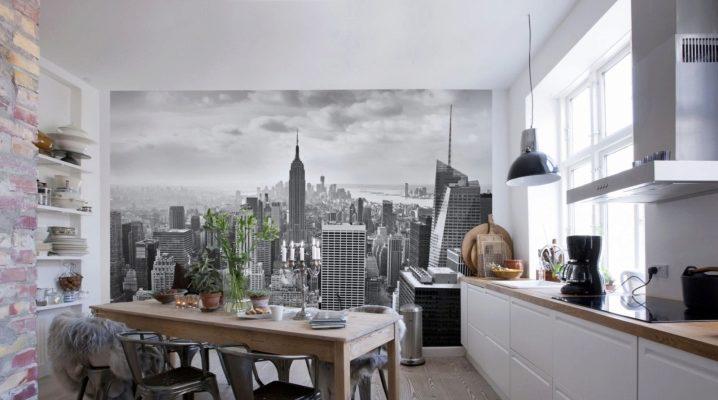 Фотообои на кухню, расширяющие пространство