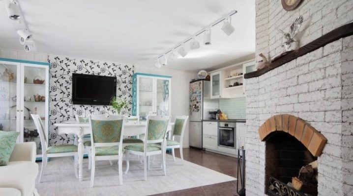 Кухня-гостиная в скандинавском стиле