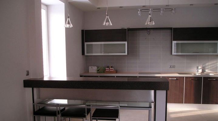 дизайн кухни студии с барной стойкой 58 фото интерьер квартиры с