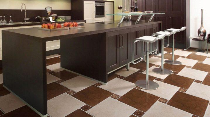 Керамогранит на пол для кухни и коридора
