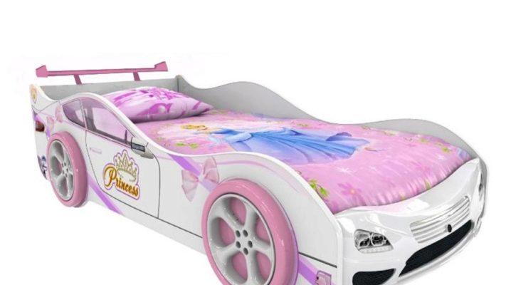 Кровать-машина для девочек
