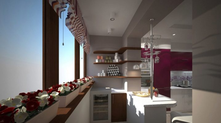 Кухня на лоджии: идеи объединения