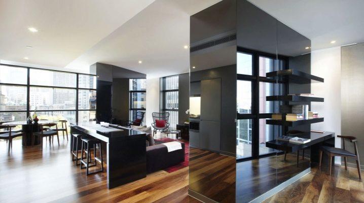 Планировка квартиры-студии большой площади