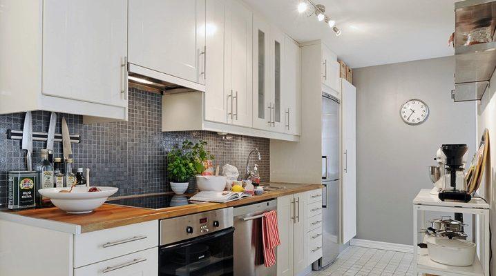 серые стены на кухне фото