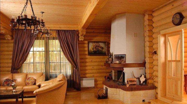 Установка печи-камина в деревянном доме