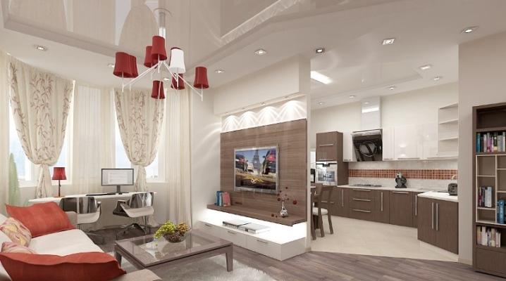 Планировка кухни в качестве столовой-гостиной