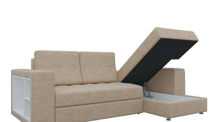 Угловой диван с независимым пружинным