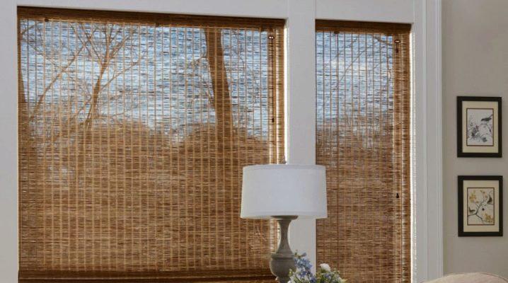 бамбуковая штора на стену