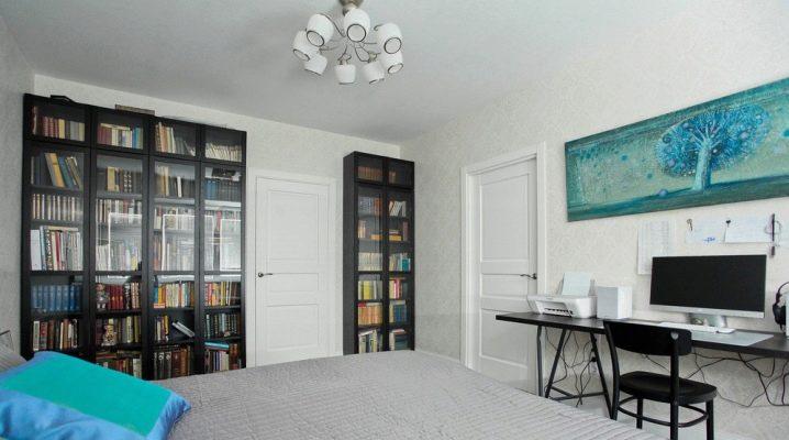 книжные шкафы Ikea белые стеллажи с дверцами со стеклом и