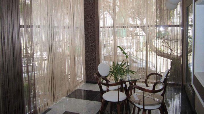 веревочный шторы фото