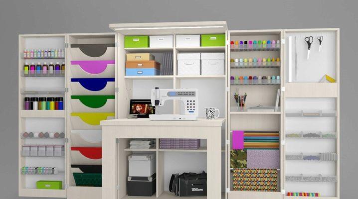 Шкафы для рукоделия   Cкладной шкаф-трансформер для шитья   Мебель с откидным столом