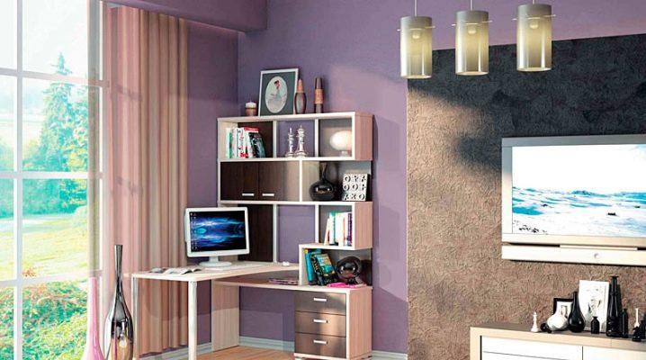 Угловые столы (65 фото): рабочий письменный столик для компьютера с тумбой, размеры компьютерной мебели для дома