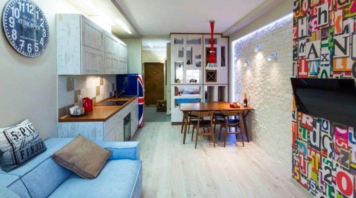 Дизайн однокомнатной квартиры 30 кв.м: красивые примеры оформления интерьера