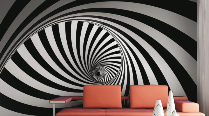 Interiors with unique geometric patterns wallpaper