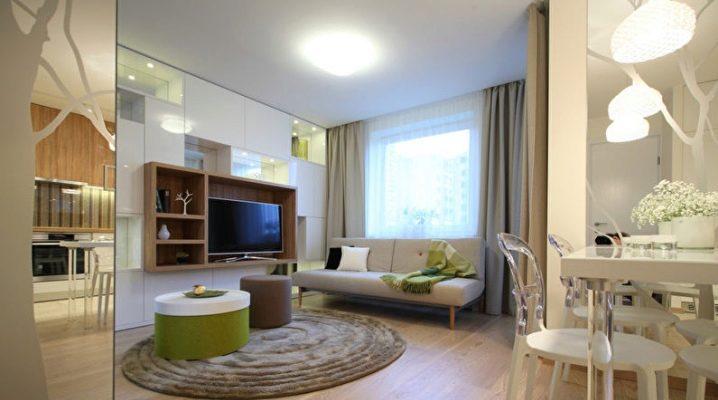 Особенности дизайна однокомнатной квартиры площадью 35 кв.м