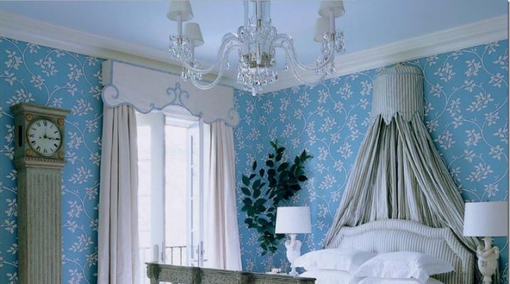 шторы в голубую комнату