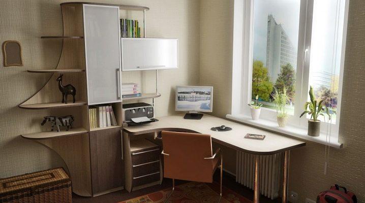 Угловой компьютерный стол со стеллажом: особенности выбора