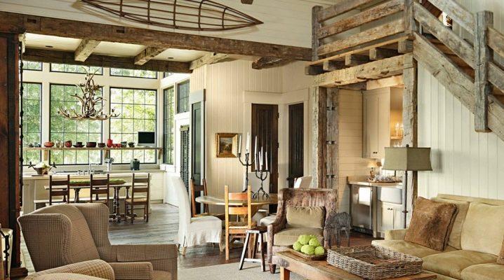 Дизайн деревенского дома внутри: оформление своими руками