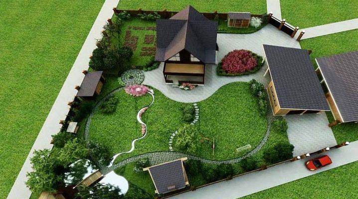 Планировка дачного участка 10 соток, схемы, варианты планировки.
