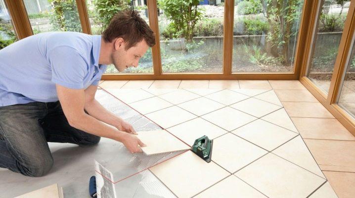 Технология укладки напольной плитки по диагонали