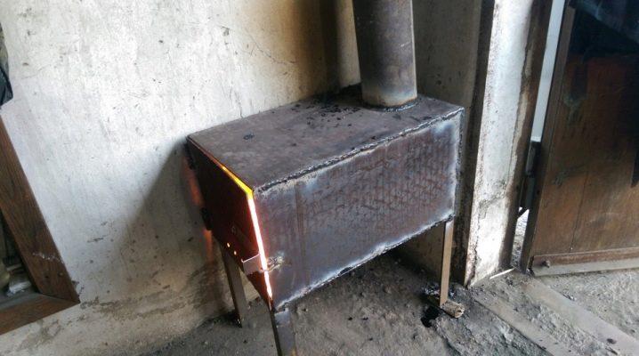 Печка на угле своими руками