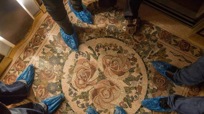 Напольная мозаика: материалы и виды