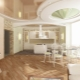 Потолок кухни-гостиной