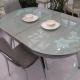 Стеклянный раздвижной кухонный стол