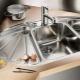 Угловые мойки из нержавейки для кухни