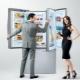Размеры двухкамерных холодильников