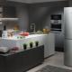 Холодильники серого и серебристого цвета