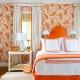 Цветные шторы в спальне