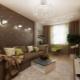 Дизайн комбинированных обоев для зала