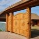 Деревянные ворота: преимущества и технология изготовления