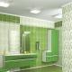 Зеленая напольная плитка в дизайне интерьера