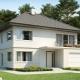 Двухэтажный дом с гаражом: красивые идеи для строительства