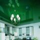 Глянцевые натяжные потолки: виды и расцветки