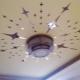 Наклейки на потолок: виды и их особенности
